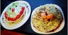 Tort de clătite cu legume și spanac